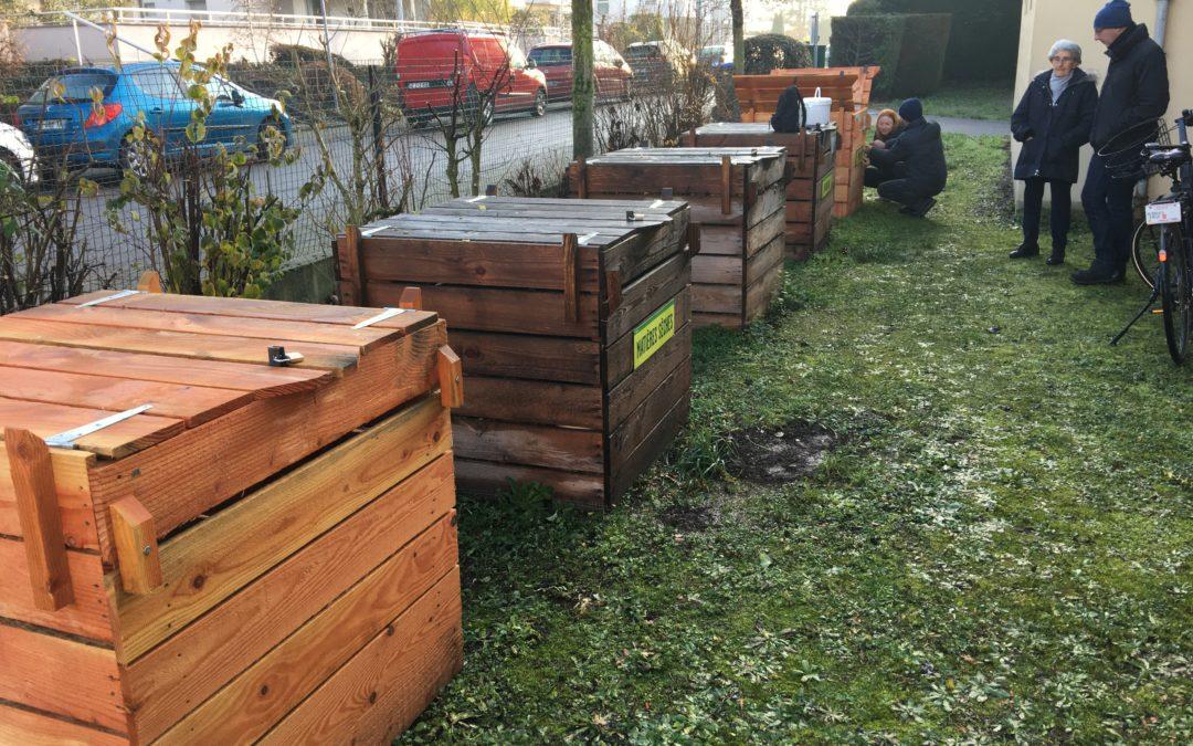 Déplacement de bacs Compost site Myosotis